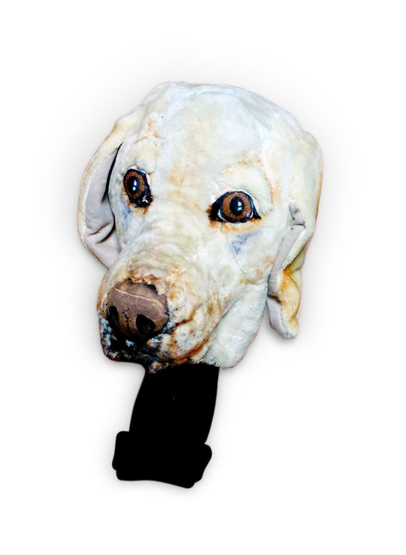 Novelty Golf Club Headcover Custom Portrait Labrador